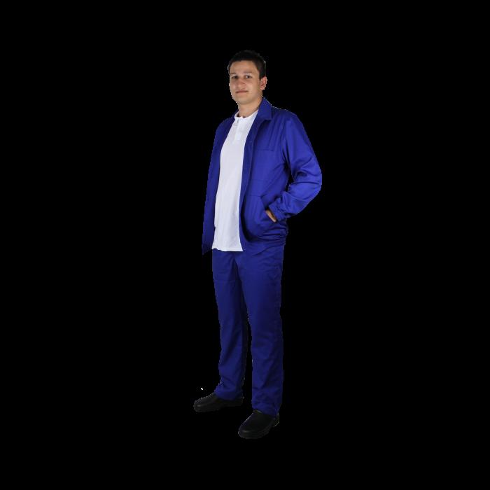 Haina de lucru unisex albastra, tercot, 200grame, marime