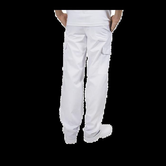 Pantaloni pentru barbati, tercot, 170 grame, alb