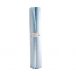 Rola cearceaf hartie cu polietilena 50cmx50m albastru, 2 straturi