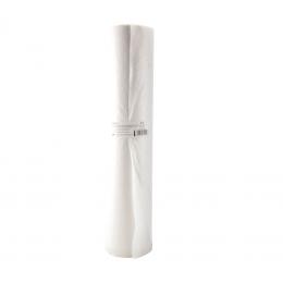 Rola cearceaf hartie reciclata cu polietilena 50cmx50m alb, 2 straturi
