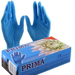 Manusi examinare vinil pudrate, masura S, albastre, 100 bucati