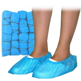 Acoperitori pentru pantofi din CPE, 3G, 100 bucati/set, albastri