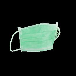 Masca chirurgicala verde cu elastic, 3 pliuri-3straturi, 50 bucati/set