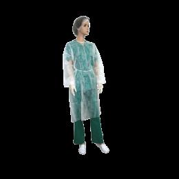 Halat de protectie din PPSB tip vizitator, marimea XXL, alb, 10 bucati/set