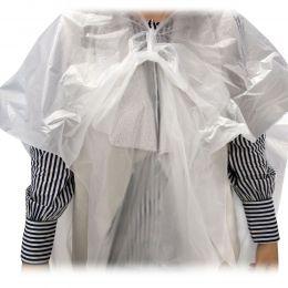 Pelerina cosmetica din HDPE, transparente, 100 bucati