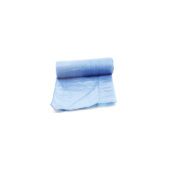 Saci de menaj cu snur, albastri, 60litri, 10 bucati/rola