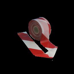 Rola banda delimitare acces, 8cm x 200m, alb-rosu