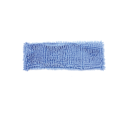 Rezerva pentru mop plat, din microfibra, 45x15cm, cu fire albastre de 1cm