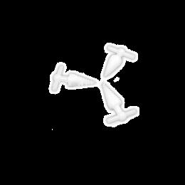 Deschizator de gura din plastic in forma de spirala