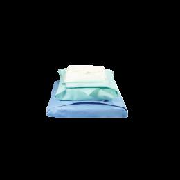 Hartie creponata pentru sterilizare autoclav/EO, 75x75cm, intercalata alb-verde, 250 bucati/cutie