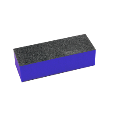 Buffer de unghii, pentru pilit/lustruit, bloc albastru/negru, 9.5cm