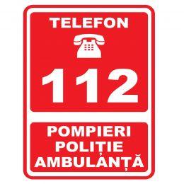 Indicatoare de avertizare, interzicere, obligativitate, prim ajutor si salvare, P.S.I. pe suport AUTOCOLANT, dimensiunea 20 x 30 cm, 1 bucata
