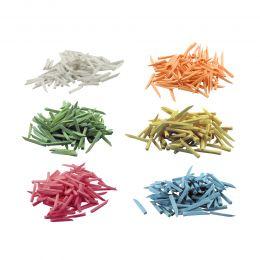 Pene interdentare din lemn,  alb(subtiri scurte), galben(subtiri lungi), albastru(mediu scurt), roz(mediu lung), 200 bucati