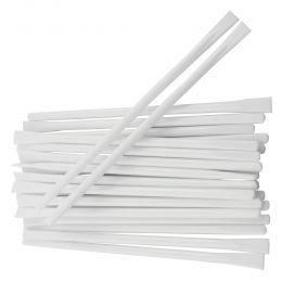 Betisoare pentru mixare, albe, 114x4mm, 100 bucati