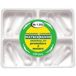Matrici Conturate Mylar Premolari & Molari, set 8 tipuri, transparente, kit 120 bucati
