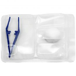 Kit pansament steril, de unica folosinta, compus din pensa, compresa si tavita de lucru