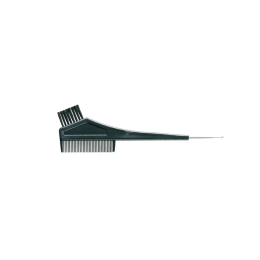 Pensula pentru vopsit parul, prevazuta cu pieptene, par din nylon, negru, 20 cmx 6.50 cm