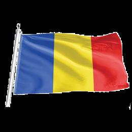 Drapel exterior Romania din poliester, 90x135cm