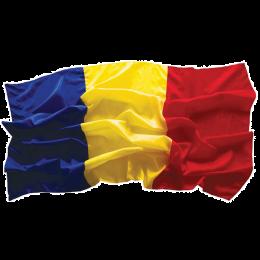Drapel interior Romania din satin, 90x135cm