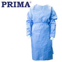 Halat bloc operator ranforsat steril, albastru, 157x125cm, marime L