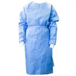 Halat bloc operator ranforsat steril, albastru, 165x140cm, marime XL